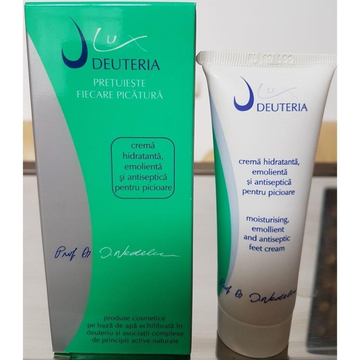 Crema hidratanta, emolienta si antiseptica pentru picioare