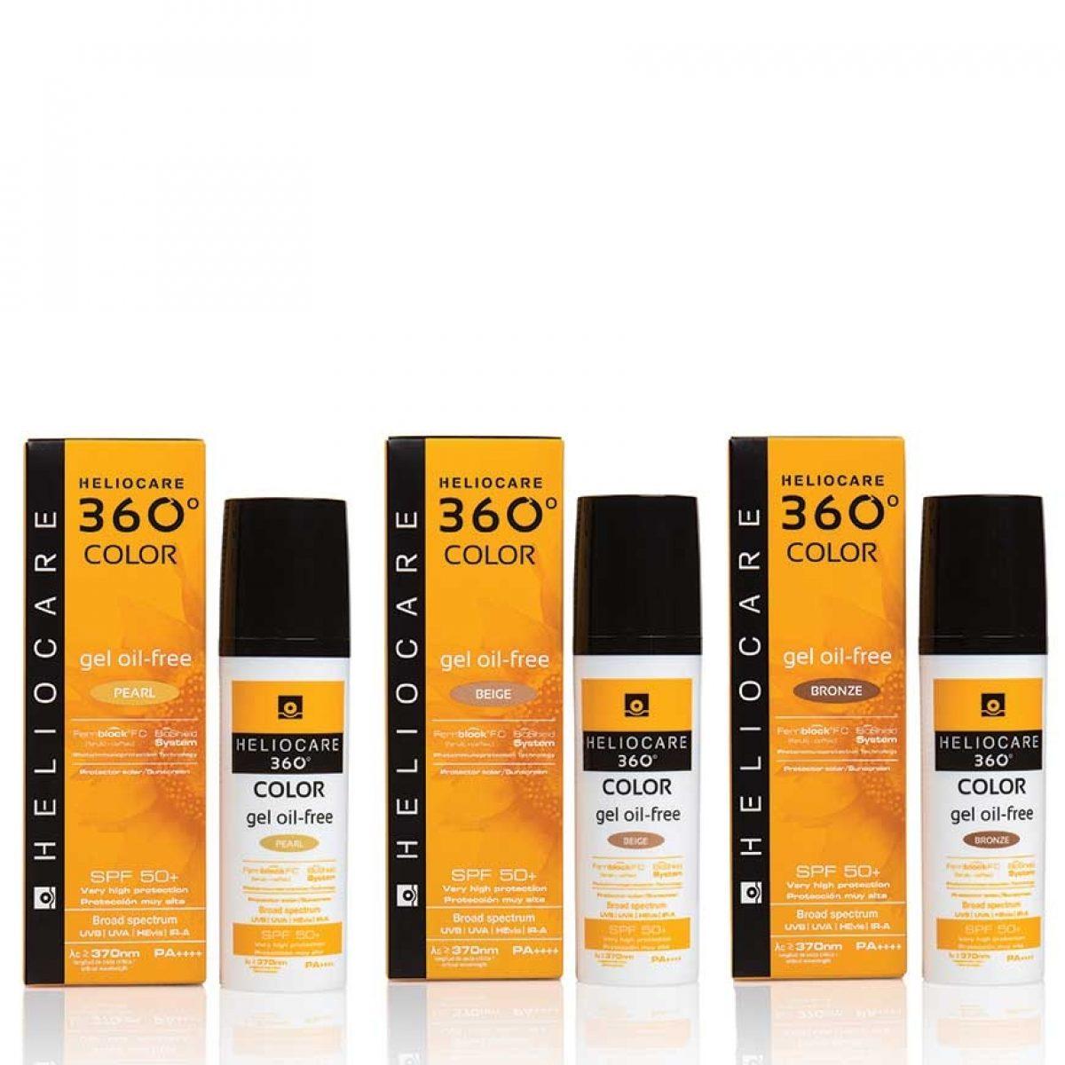 HELIOCARE 360 GEL OIL-FREE BEIGE SPF50+ 50ML