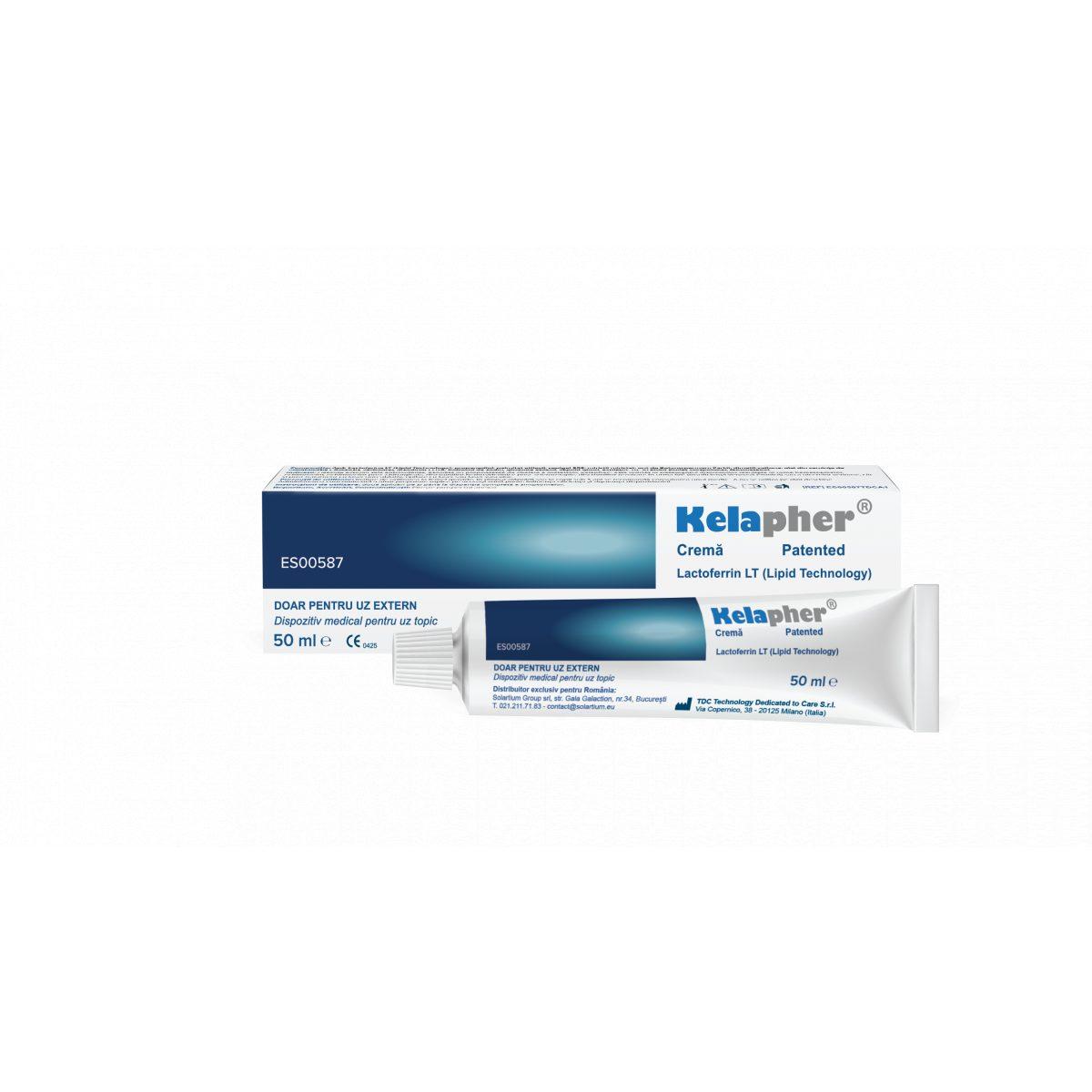 KELAPHER crema tratament echimoze si hematoame cu nano-lactoferina 15%