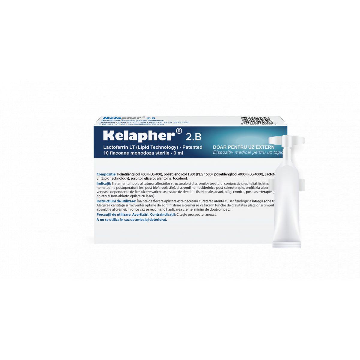 KELAPHER 2B crema sterila tratament echimoze, hematoame, ulcere varicoase cu nano-lactoferina 15%